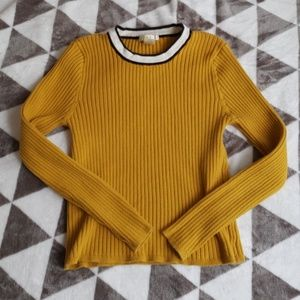 Forever 21 long sleeve cropped knit shirt